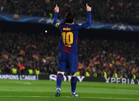 Lionel Messi carries Barcelona into the Champions League quarter-finals
