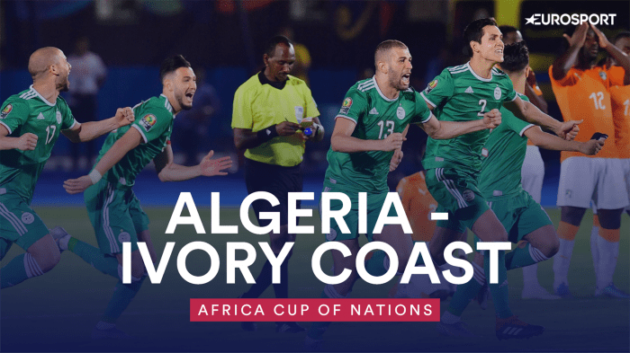 Algeria knocking out Ivory Coast